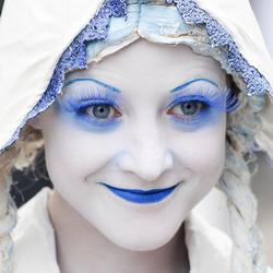 Portret blauw