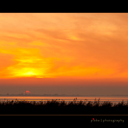 Sunset op het Tjeukermeer