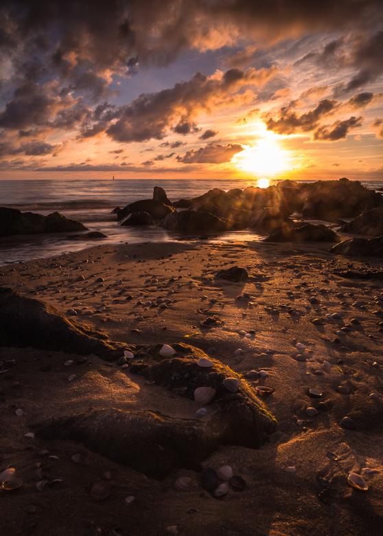 zonsondergang kust Cocksdorp