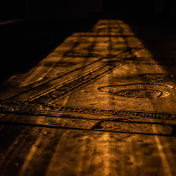 Church Floor with outside lighting