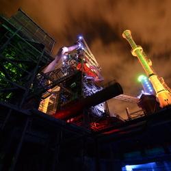 Industrie bij nacht