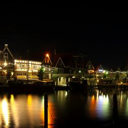 Panorama by night v.d. haven van Volendam (2)