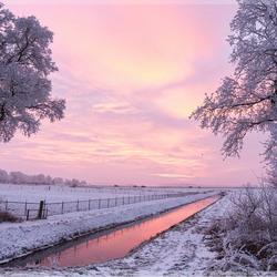 Sunset in Winterwonderland