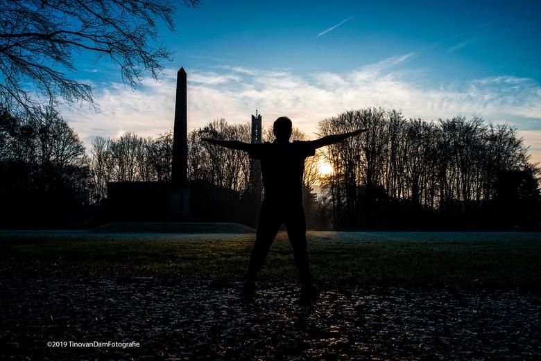 Workout  - Ik ging voor vanmorgen voor een 'foto id mist'. Heel NL zat erin alleen hier in Rijswijk trok die net voor zonsopkomst helemaal w