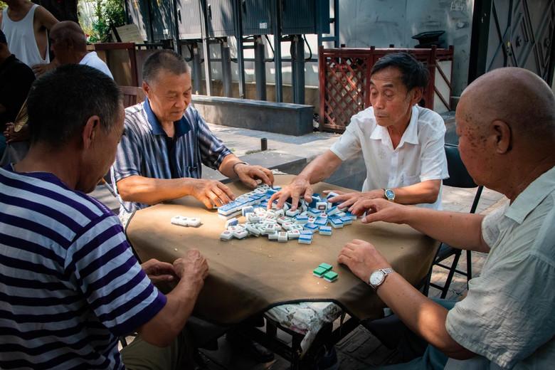 Mahjong spelen in Beijing -