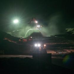 Zandsuppletie by night