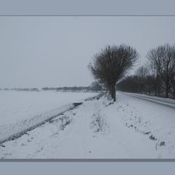 guur winterweer op de Oude Appelaarsedijk