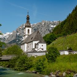 Beroemd kerkje in Ramsau bei Berchtesgaden