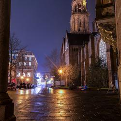 Doorkijkje op Martinitoren Groningen