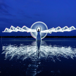 lightpainting - engeltje