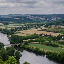 _uitzicht op de rivier de Dordogne
