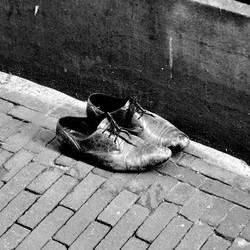 left shoes in amsterdam