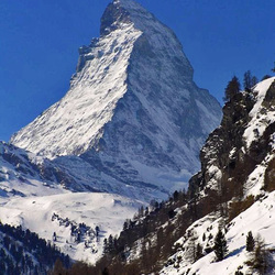 Bewerking: Matterhorn in zwitserland