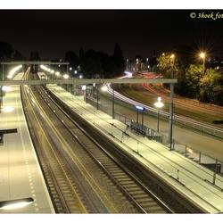 treinstation halfweg - zwanenburg @ night