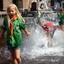 Verkoeling bij de fontein