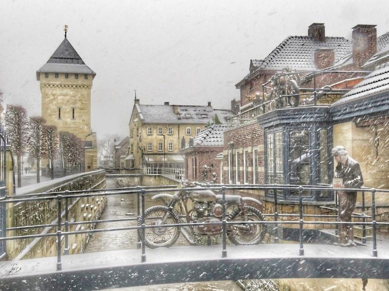Valkenburg snowed under - Zo'n prachtig stadje en met sneeuw nog mooier.
