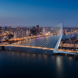 Erasmusbrug Blue Hour