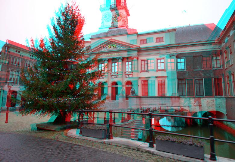 Stadhuis Dordrecht 3d - Dordrecht 3D<br /> Stadhuis  anaglyph red/cyan  12-24 Nikkor