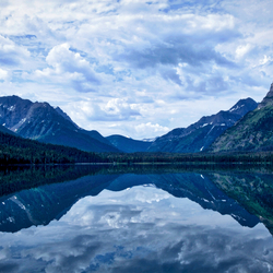 Waterton Lake mirror