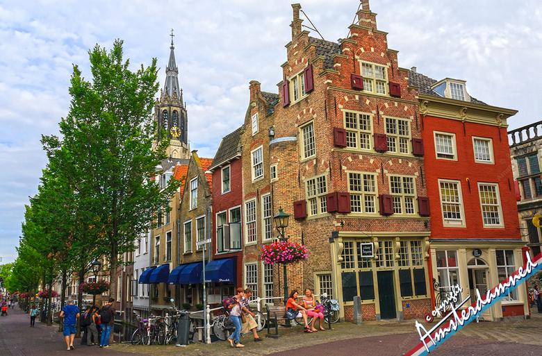 De Voldersgracht in Delft - De Voldersgracht in Delft