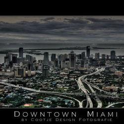 Downtown Miami in the Rain