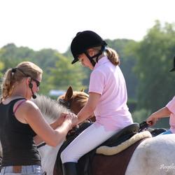 Paardrijles als blind meisje