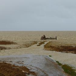 Hoog Water bij de Holwerter Pier