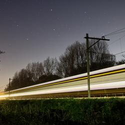 trein bij nacht