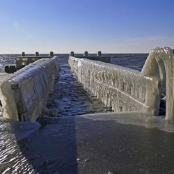 IJsaanzetting bij het Monument op de Afsluitdijk (2)