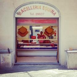Slager in Pistoia (Italië)