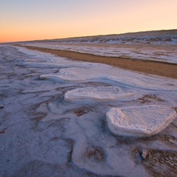icecold morning on the beach
