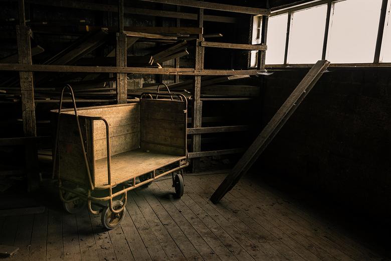 De Kar - Deze plek in de fabriek had ik nog niet eerder zonder model gefotografeerd. Ik heb hier ook foto's met een model gemaakt, maar die mag i