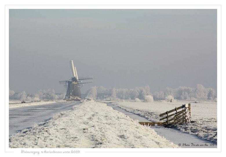 Winter in Nederland 12 - De winter is weer terug in Nederland.<br /> <br /> Nog niet zo wit als op mijn foto.<br /> <br /> In de polder van Aarlan