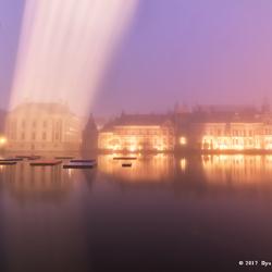 Foggy sunrise in The Hague