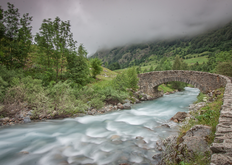 Gavarnie Bridge and River
