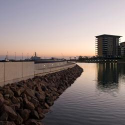 Darwin Waterfront bij schemering