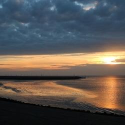 Haven Harlingen, zonsondergang