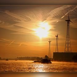 ochtendzon op Albertkanaal