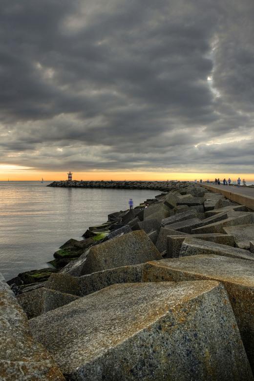 Haven van Scheveningen - Haven van Scheveningen vlak voor zonsondergang.