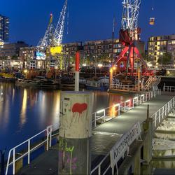 Leuvehaven Rotterdam bij nacht Rotterdam