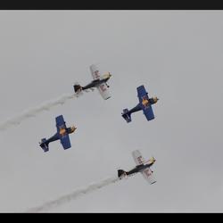 Acrobatiek in de lucht