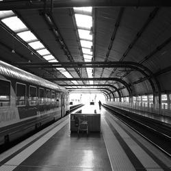 Treinstation nabij Rome