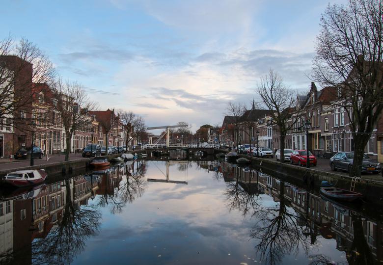 Voor de avond valt in Alkmaar -