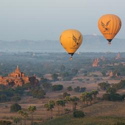 Luchtballonnen over Bagan
