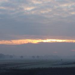 winterse zon opkomst