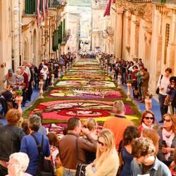 Noto, Sicilie, Bloemenmozaiek