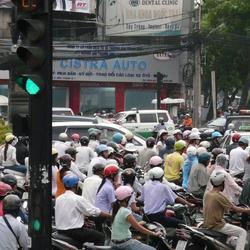 Vietnam, verkeer in Saigon