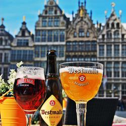 Bier op het terras