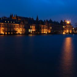 Hofvijver en binnenhof by night