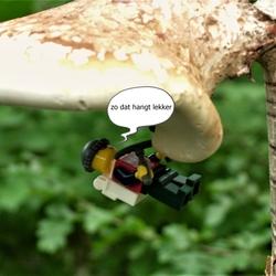 LEGO man aan panenstoel-klimsport dl.2